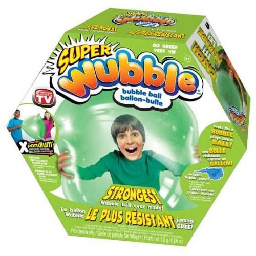 Super Wubble Ball W/Pump Blue Green for Children , Green ,80890