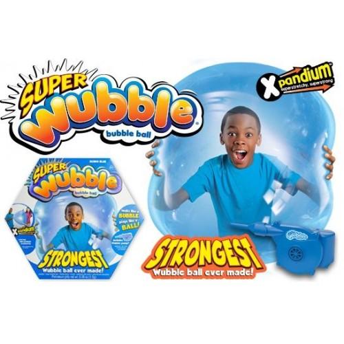 Super Wubble Ball W/Pump Blue for Children , Blue ,80890