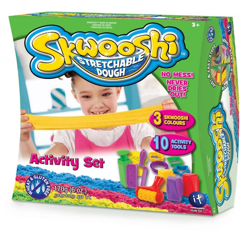 Skwooshi Activity Set - 3 Color - 10 Tools -3000412003N