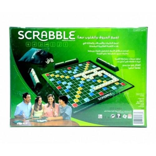 Mattel Games Scrabble Original Arabic Board Game Set Y9612
