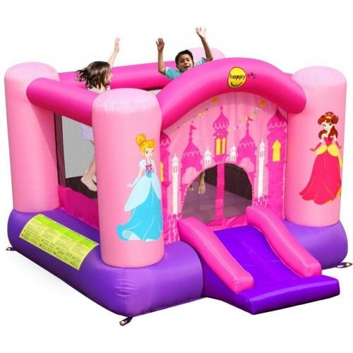 Happy Hop princess slide and hoop bouncer 9201P