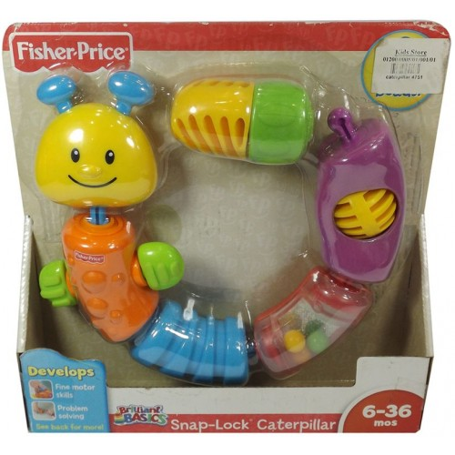 Fisher Price Snap Lock Caterpillar Toy - Multicolor