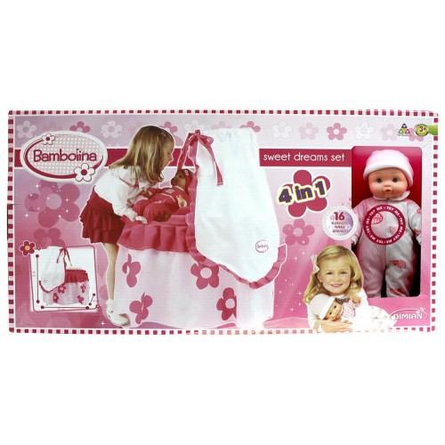 Bambolina BD945-204WB Bed 4 in 1 Set, Pink