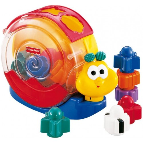 Fisher-Price Musical Snail Music Toy [Blue, Red and Yellow, 71922]