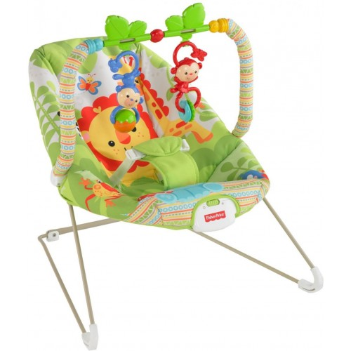 Fisher-Price Rainforest Friends Bouncer, Green [BCG47]