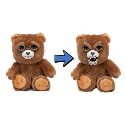 Feisty Pets Pranking Teddy Bear, face switch