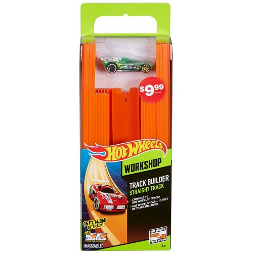 Hot Wheels Track Builder Straight Track BHT77 Car Racetracks
