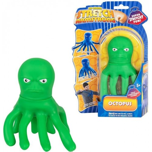 Mini Stretch Toy Octopus Figure Green