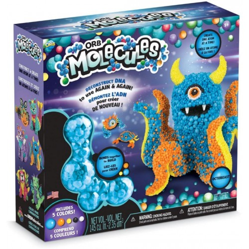 ORB Octobeast Molecules Monopus Monster Play Set  Multi-Color (78935)