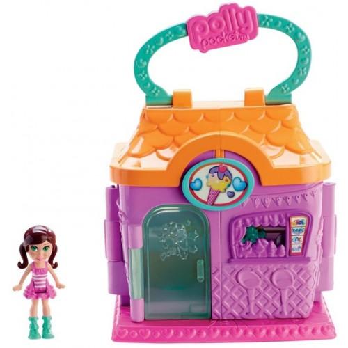 POLLY POCKET Pollyville Sundae Shop Playset