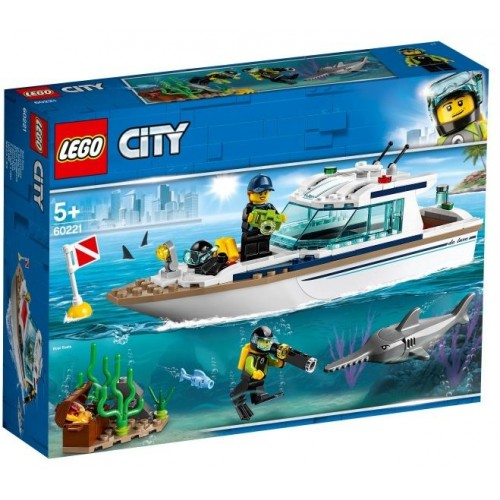 Lego Toy City Diving Yacht , For age 5 Years and above - 60221