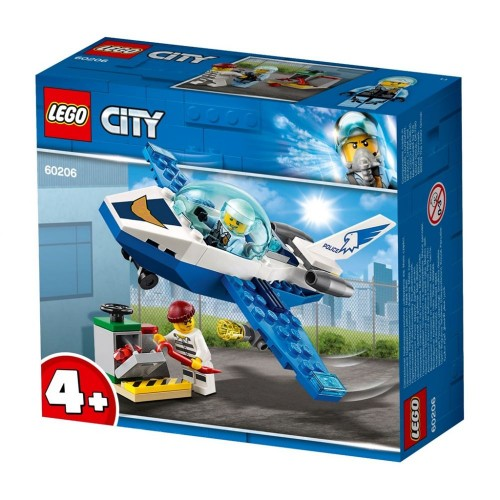 Lego Toy City Sky Police Jet Patrol , For age 4 Years and above - 60206