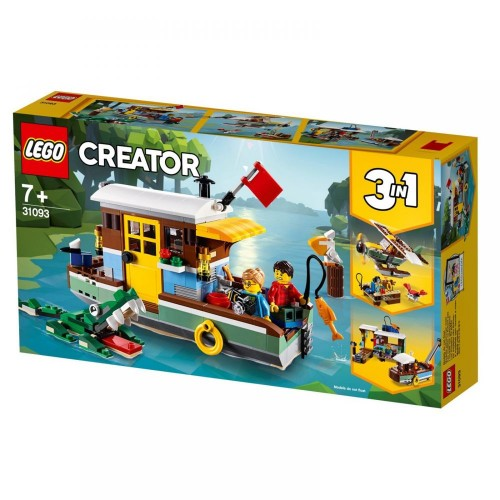 Lego Toy Creator Riverside Houseboat , For age 7 Years and above - 31093