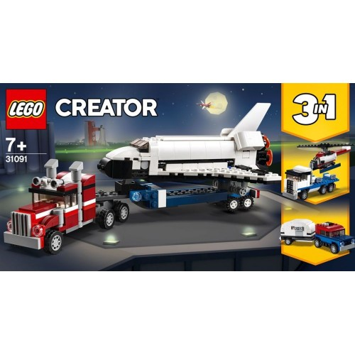 Lego Toy Creator Shuttle Transporter , For age 7 Years and above - 31091