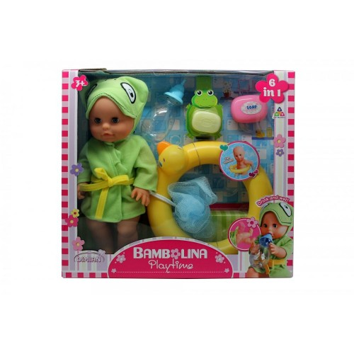 Bambolina Play Time 30 cm Baby Doll Swimming Set BD1407