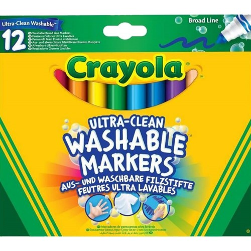 Crayola CY58-8329-12 Ultra Clean Broadline Markers
