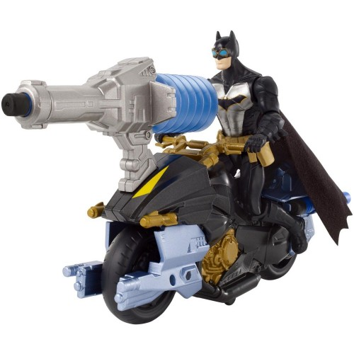 DC Batman Missions Air Power Blast Attack Batman Figure & Batcycle Vehicle