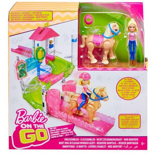 Barbie On The Go Pony Race Playset - 4 Years & Above