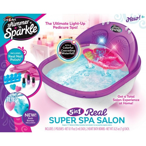 Cra-Z-Art Shimmer N Sparkle 5 in 1 The Real Super Spa Salon for Girls - 17580