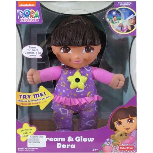 Fisher Price Nickelodeon The Explorer Dream & Glow Dora Doll - Pink and Purple