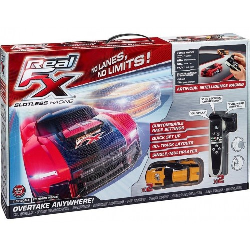Real FX Racing RFX-1001-3M Slotless Racetrack, Multi Color
