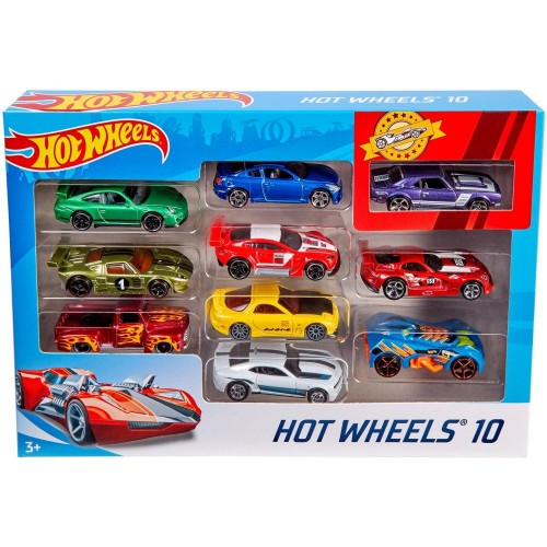 Hot Wheels 10 Car Gift Pack (Styles May Vary)