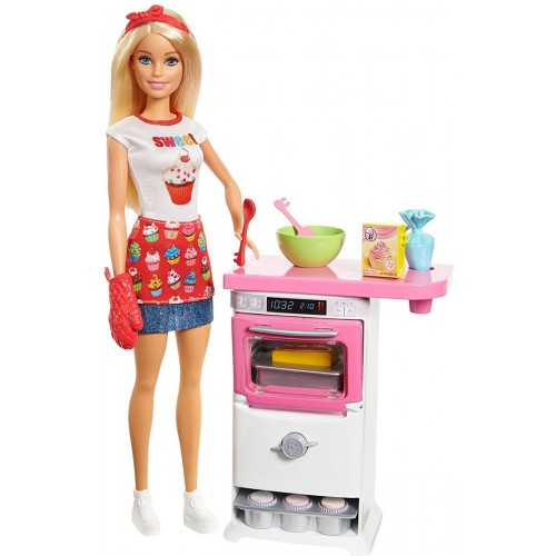 Barbie Bakery Chef Doll and Playset for Girls, 3 Years and Above - FHP57