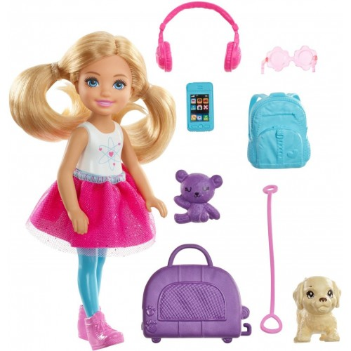 Barbie Chelsea Doll and Travel Set with Puppy (FWV20)