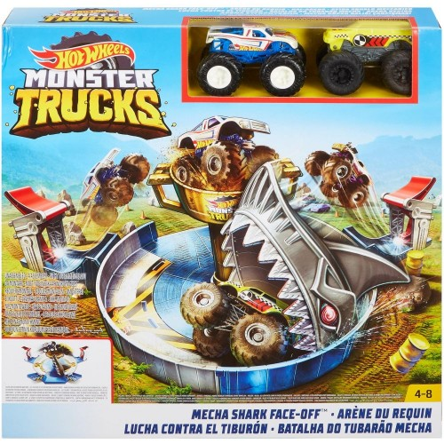 Hot Wheels Monster Trucks Mecha Shark Face-Off Play Set (FYK14)