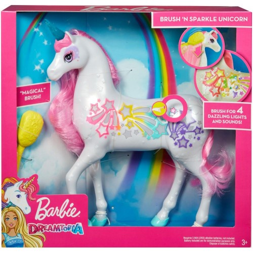 Barbie Dreamtopia Brush n Sparkle Unicorn (GFH60)