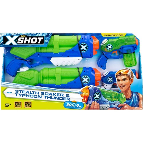 X-SHot Water Warfare Combo 2 Typhoon Thunder & 2 Stealth Soaker (5605)
