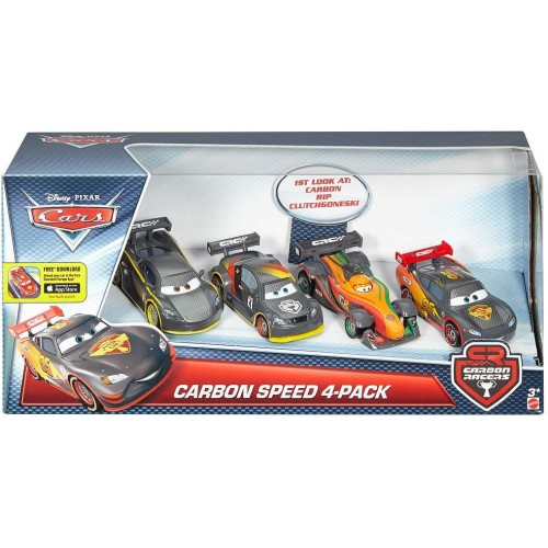 Disney Pixar Cars Carbon Racers Speed , 4 Pieces , DHM95
