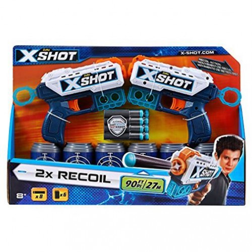 Zuru X-Shot Double Kickback Dart Gun Blaster Toy - 8 Years and Above