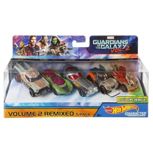 Hot Wheels 5-Pack Guardians Of The Galaxy Character Car