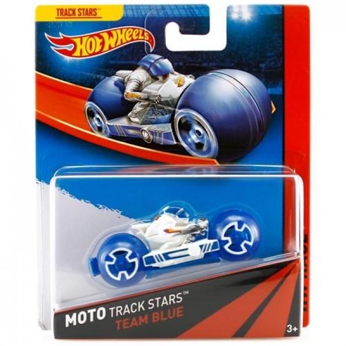 Hot Wheels Moto Track Stars Team Blue