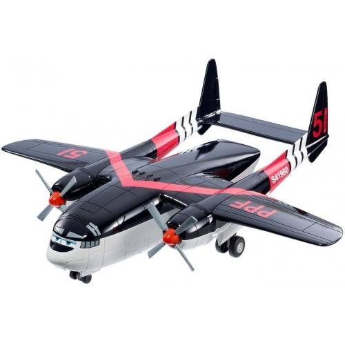 Mattel Disney Fisher-Price Planes: Fire and Rescue Cabbie Transporter Vehicle, Black [BFM27]