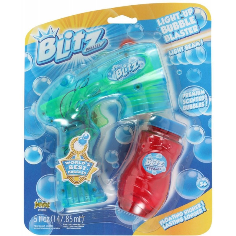Imperial Bubble Blitz Light Blaster - 3 Years and Above, Clear and Red