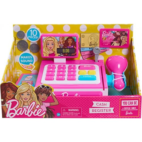 BARBIE 10-Piece Small Cash Register Set