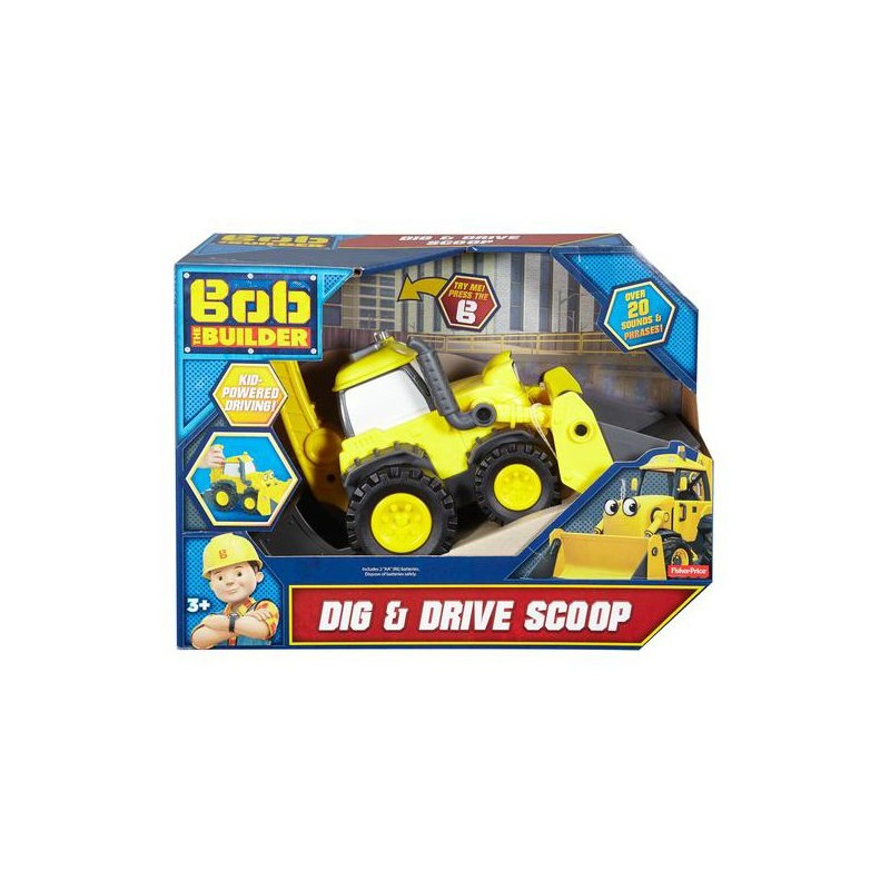 Fisher Price Bob The Builder Dig and Drive Scoop - 3 Years & Above