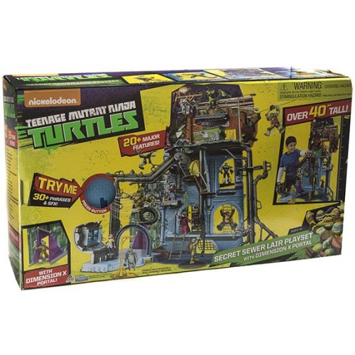 Ninja Turtles , Secret Sewer Lair Playset with Dimension X Portal , for Boys , 4+ , 95016