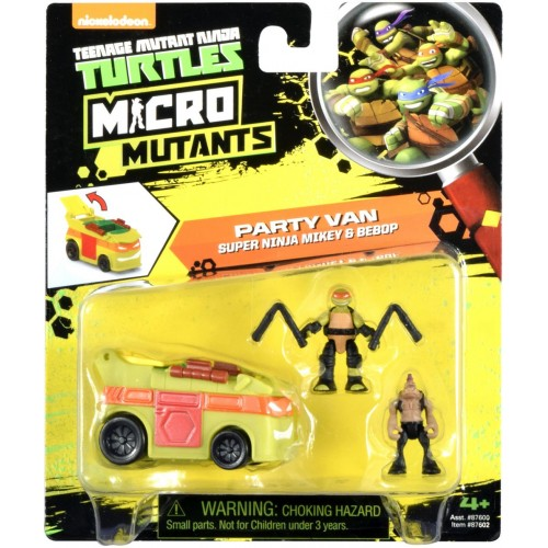Teenage Mutant Ninja Turtles Micro Mutants Turtle Transport Vehicle with Figure Party Van - 3 Years & Above