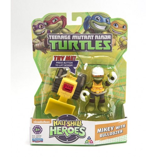 Ninja Turtles , Half Shel Heroes , Mikey with Bulldozer , for Boys