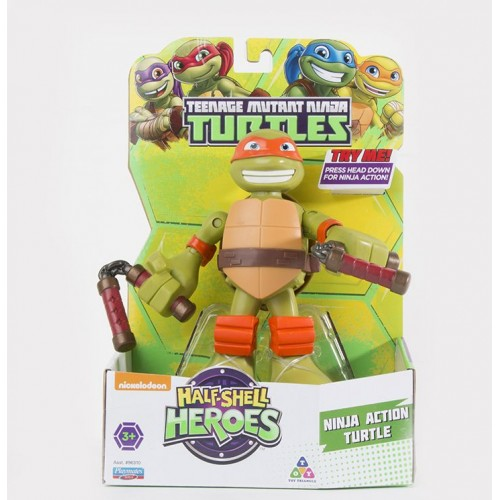 "Tmnt , 6"" Talking Turtles Figure for Boys , Half-Shell Heroes , Action Figures , 3+ , 43377963189"