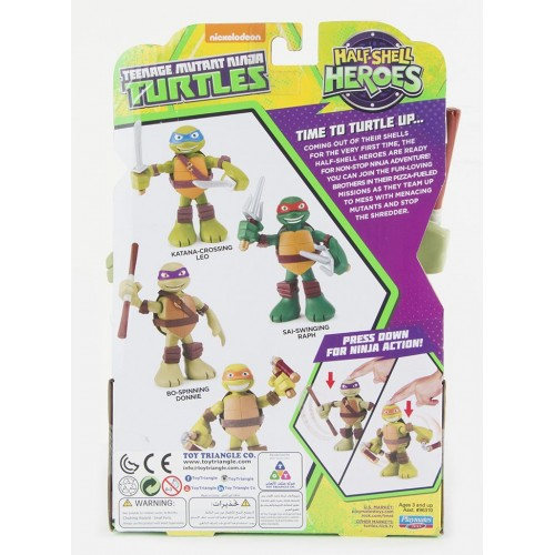 Tmnt , 6 Talking Turtles Figure for Boys , Half-Shell Heroes , Action Figures , 43377963172