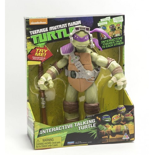 Ninja Turtles , Interactive Talking Turtle , Press on Back Trick , for Boys , , 91382