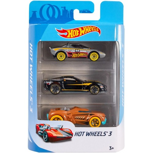 Hot Wheels Basic Car Assorted Styles 3 Count (K5904)