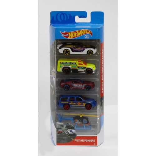 Hot Wheels Rescue and Police 4 car and 1 helicopter - Djg23_Fkt58