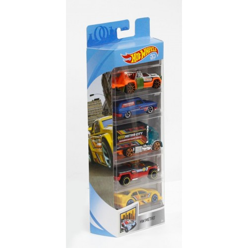 Hot Wheels Metro 5 car gift pack FKT56